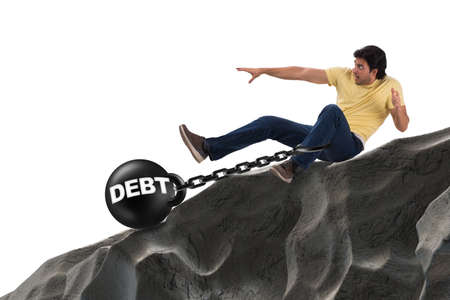 Student in loan and expensive education concept