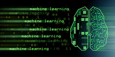 Machine learning and cognitive computing - 3d rendering