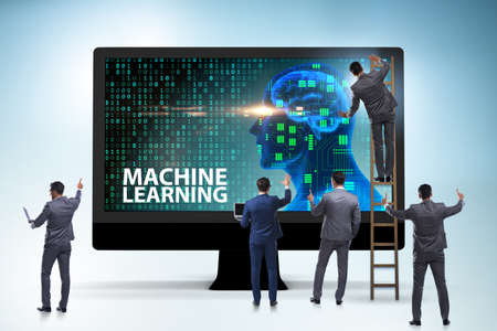 Machine learning concept as modern technology Imagens - 116318120