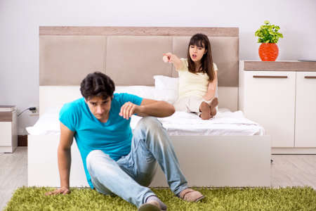 Young family having problems in relationships Banque d'images