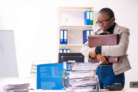 Black female employee unhappy with excessive work