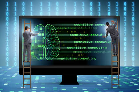Cognitive computing and machine learning concept Reklamní fotografie