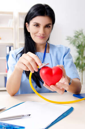 Female doctor cardiologist working in the clinic Stock fotó