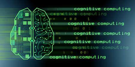 Machine learning and cognitive computing - 3d rendering Reklamní fotografie