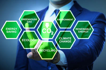Businessman in ecology and environment concept Standard-Bild - 117209019