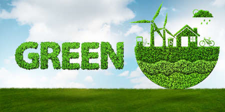 Ecological concept of clean energy - 3d rendering Stockfoto