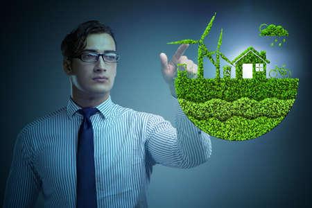 Businessman in ecological green concept Foto de archivo