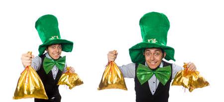 Funny man in saint patrick holiday concept Stockfoto