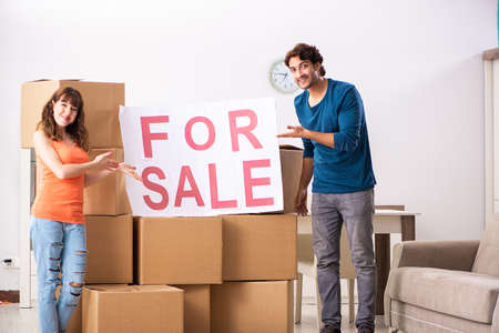 Young family offering house for sale and moving out