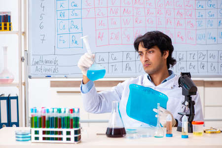 Young chemist working in the lab Banque d'images
