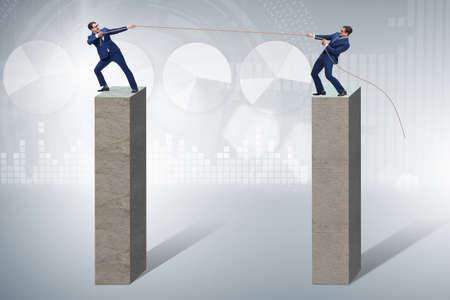 Concept de compétition avec concept de tir à la corde
