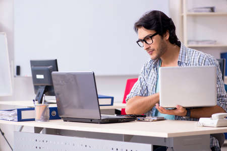 It specialist working in the office