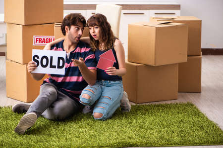 Young family selling their house