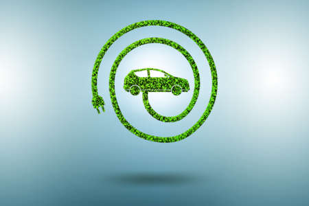 Concept of ecological electric car - 3d rendering 免版税图像