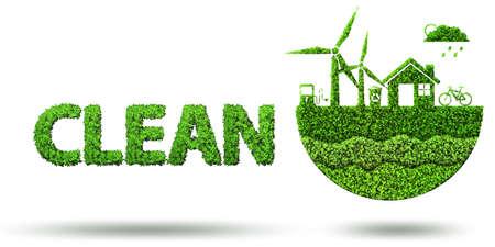Ecological concept of clean energy - 3d rendering Foto de archivo