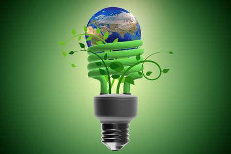 Concept of energy efficiency - 3d rendering Standard-Bild - 117921587