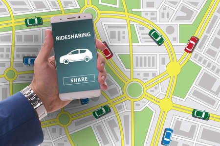 Concept of car ordering online