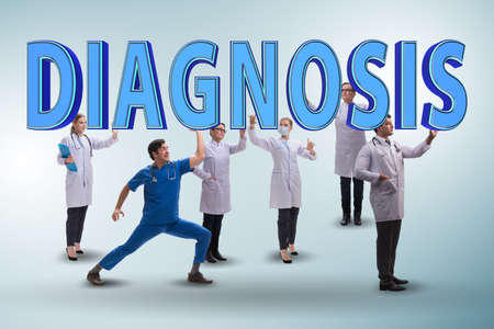 Group of doctors holding diagnosis letters Stok Fotoğraf