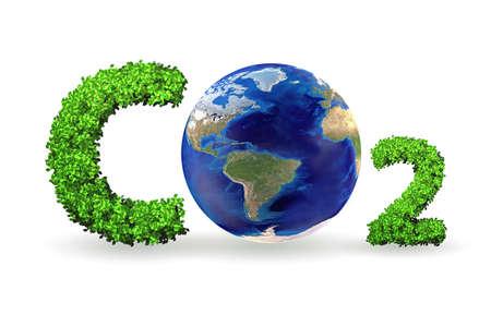 Concept de serre avec gaz CO2 - rendu 3d Banque d'images