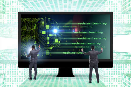 Cognitive computing and machine learning concept