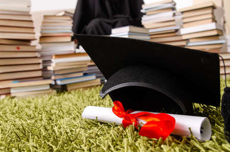 Young female student graduating from the university