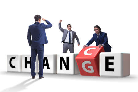 Businessman in change and chance concept Banco de Imagens