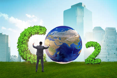 Ecological concept of greenhouse gas emissions Stock Photo