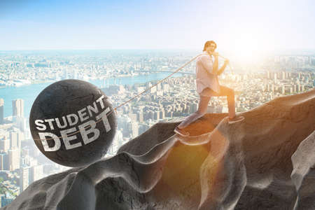 Concept of student loan and expensive education