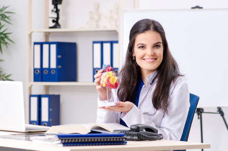 Female doctor cardiologist working in the clinic Stock Photo