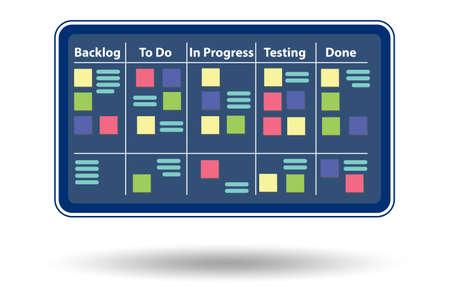Illustration of agile method concept - 3d rendering