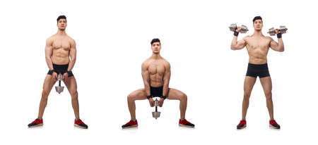 Muscular man isolated on the white background Standard-Bild