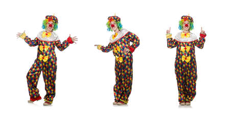 Clown isolated on the white background Banco de Imagens