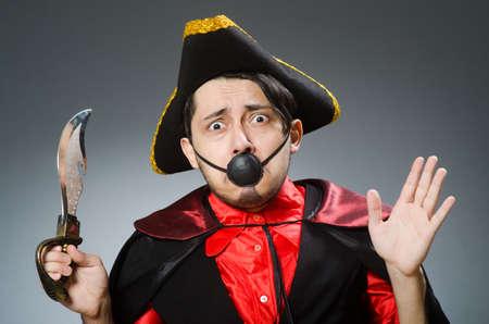 Man pirate against dark background Stock Photo