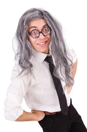 Old man in funny concept 版權商用圖片