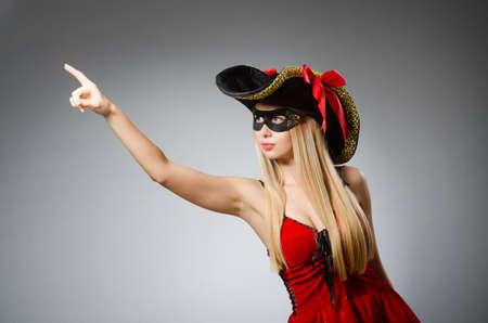Woman in pirate costume - Halloween concept Reklamní fotografie