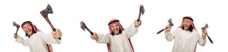 Arab businessman isolated on white 版權商用圖片 - 121123063