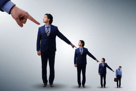 Businessmen blaming each other for failures Stock Photo