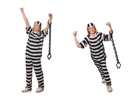 Prisoner isolated on the white background