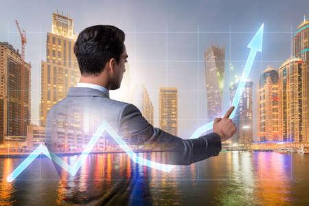 Businessman in stock trading concept Stock fotó