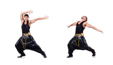 Rap-Tänzerin isoliert auf dem Weiß