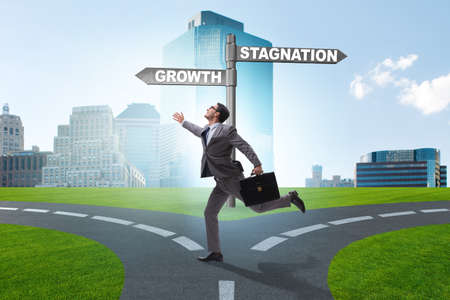 Concept of choice between growth and stagnation