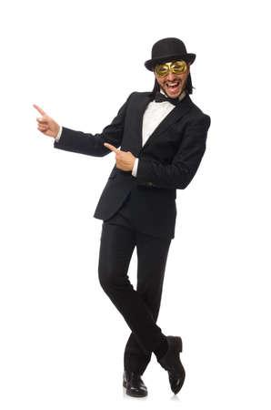Funny man isolated on white background Stock Photo