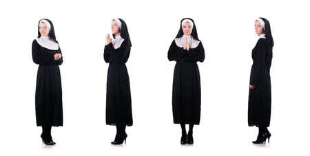 Junge Nonne im religiösen Konzept