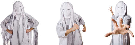 Monster on white in scary halloween concept Stock Photo