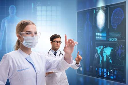 Doctors in future telemedicine concept