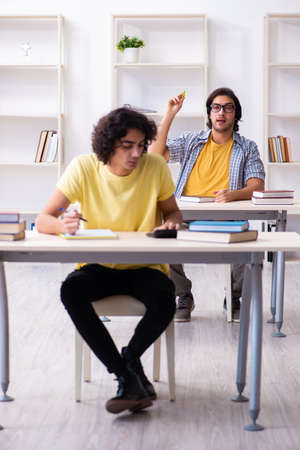 Two male students in the classroom 版權商用圖片