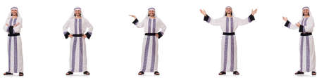 Male arab isolated on white background