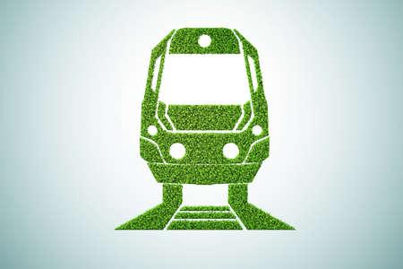 Green environmentally friendly vehicle concept - 3d rendering Stockfoto
