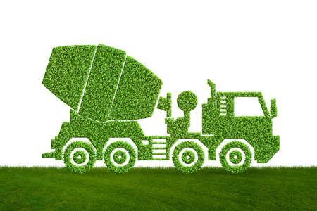 Green low emission electic vehicle concept - 3d rendering Foto de archivo - 124876470