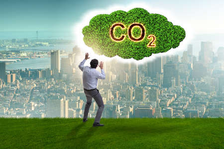 Ecological concept of greenhouse gas emissions Banque d'images